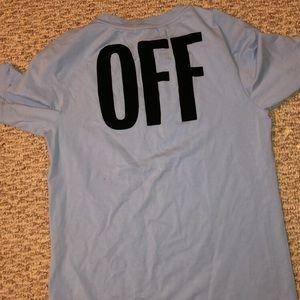 Off white global warming tee shirt